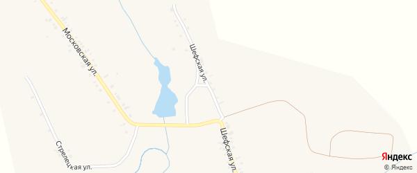 Шефская улица на карте села Ичиксов с номерами домов