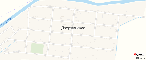 Улица Даниялова на карте Дзержинского села с номерами домов