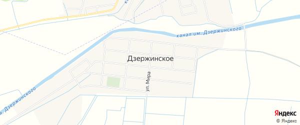 Карта Дзержинского села в Дагестане с улицами и номерами домов