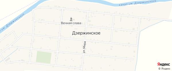 Крайняя улица на карте Дзержинского села с номерами домов