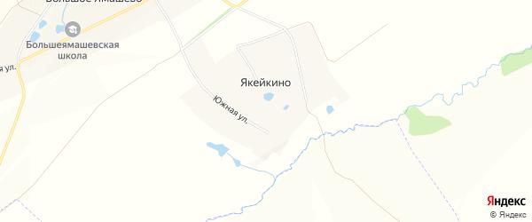 Карта деревни Якейкино в Чувашии с улицами и номерами домов
