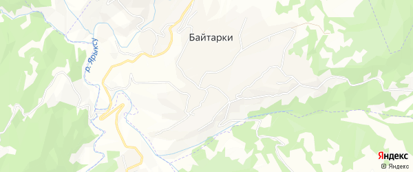 Карта села Байтарки в Чечне с улицами и номерами домов