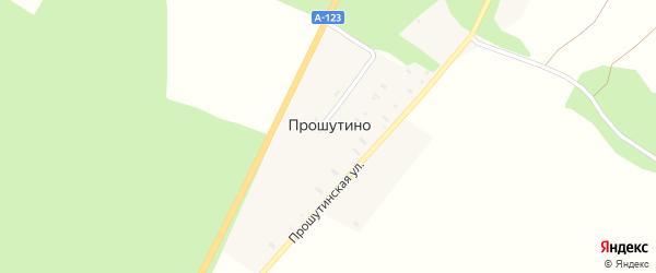 Сиреневая улица на карте деревни Прошутино с номерами домов