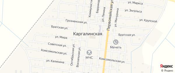 Улица Шерипова на карте Каргалинской станицы с номерами домов