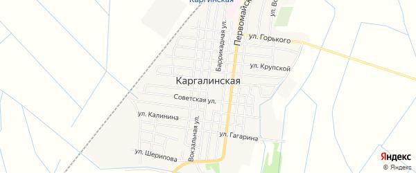 Карта Каргалинской станицы в Чечне с улицами и номерами домов