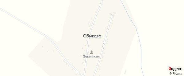 Советская улица на карте деревни Обыково с номерами домов