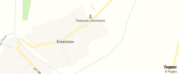 Нагорный переулок на карте деревни Емалоки с номерами домов