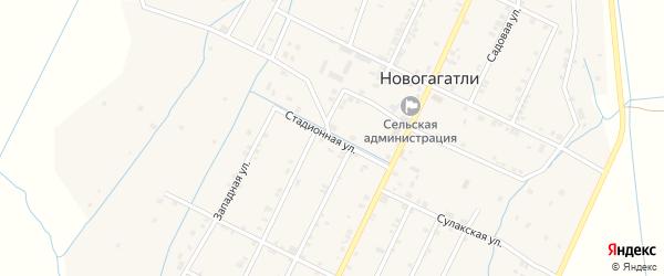 Улица Мира на карте села Новогагатли с номерами домов