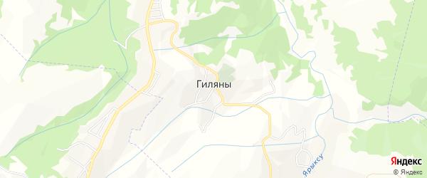 Карта села Гиляны в Чечне с улицами и номерами домов