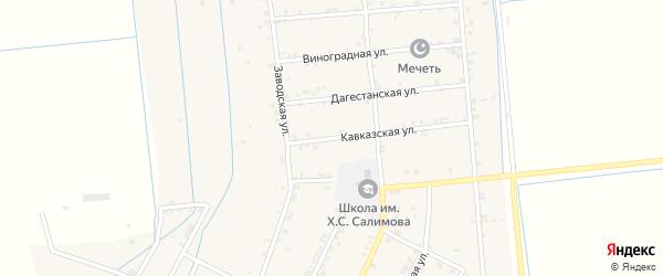 Дагестанская улица на карте села Новогагатли с номерами домов