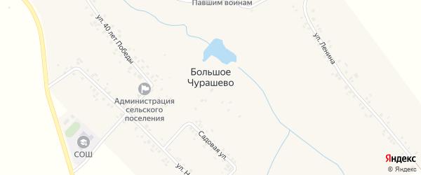 Зеленая улица на карте села Большое Чурашево с номерами домов