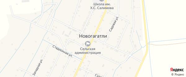 Артезианская улица на карте села Новогагатли с номерами домов