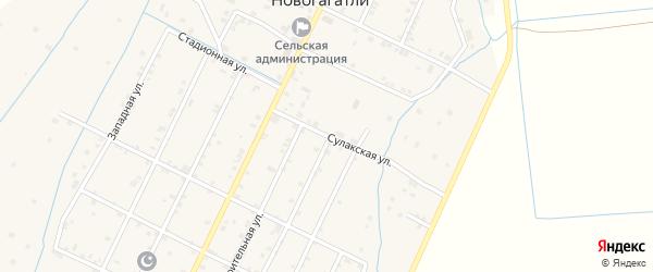 Строительная улица на карте села Новогагатли с номерами домов
