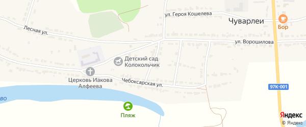 Молодежная улица на карте села Чуварлеи с номерами домов