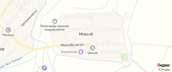 Угловая улица на карте села Моксоба с номерами домов