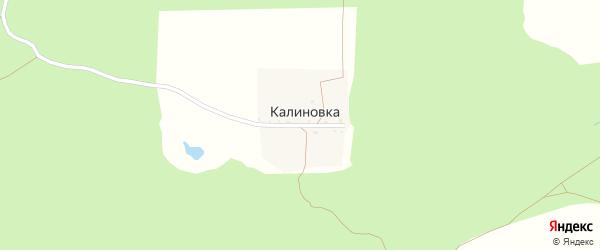 Калиновская улица на карте деревни Калиновки с номерами домов