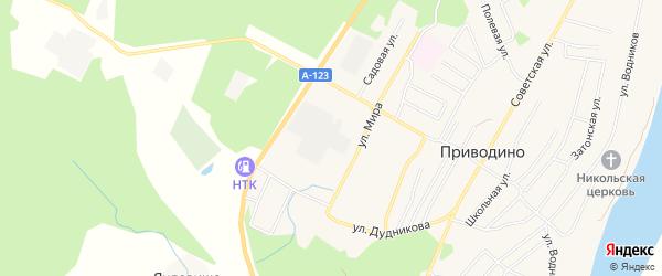 ГСК ГСПК 3 на карте улицы Мира с номерами домов