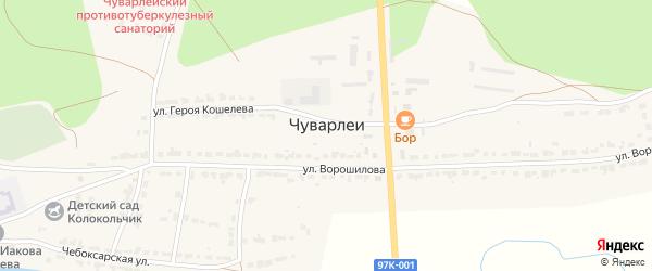 Улица Семёнова на карте села Чуварлеи с номерами домов