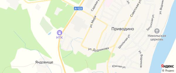 ГСК 4-а на карте улицы Мира с номерами домов
