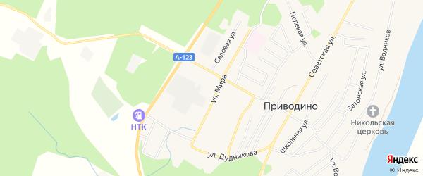 ГСК 7 на карте улицы Мира с номерами домов