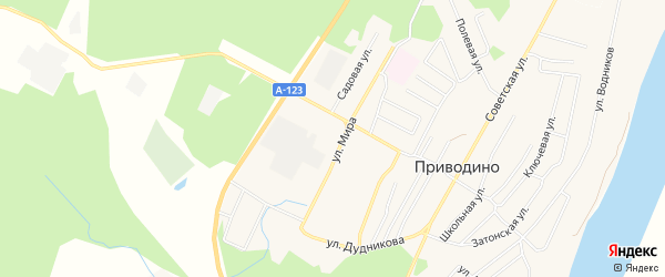 ГСК 11 на карте улицы Мира с номерами домов