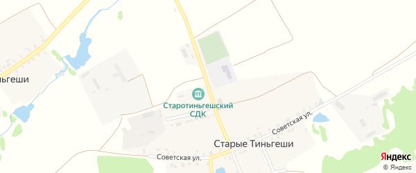 Улица Ленина на карте деревни Старые Тиньгеши с номерами домов