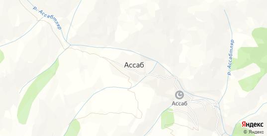 Карта села Ассаб в республике Дагестан