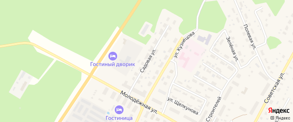 Садовая улица на карте поселка Приводино с номерами домов