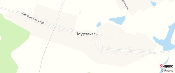 Октябрьская улица на карте деревни Мурзакасы с номерами домов