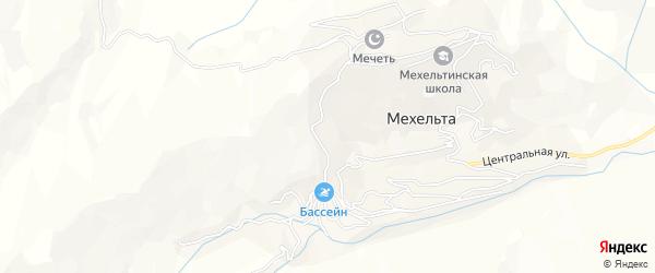 Карта села Мехельты в Дагестане с улицами и номерами домов