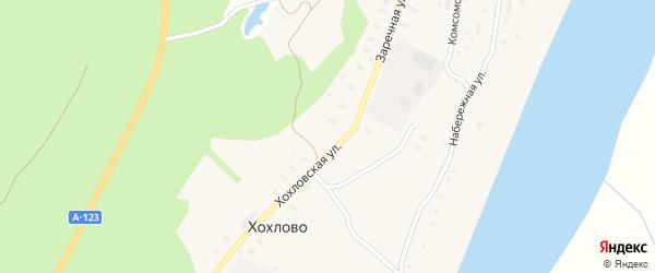 Хохловская улица на карте деревни Хохлово с номерами домов
