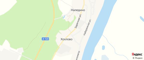 Карта деревни Хохлово в Архангельской области с улицами и номерами домов