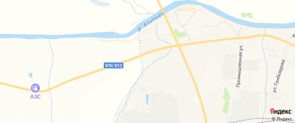 СТ Мебельщик на карте Алатыря с номерами домов