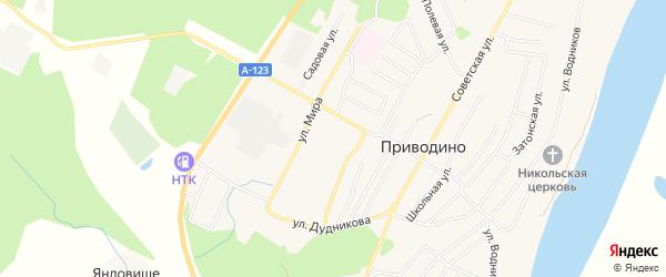 ГСК ГК 14 на карте улицы Мира с номерами домов