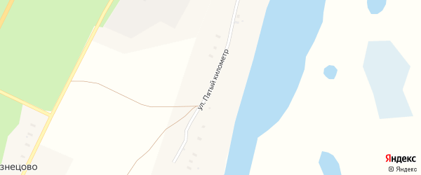 Улица Пятый километр на карте поселка Приводино с номерами домов