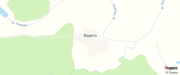 Карта деревни Вадюги в Архангельской области с улицами и номерами домов