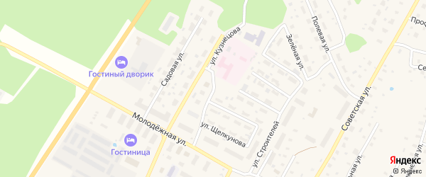 Улица Адмирала Кузнецова на карте поселка Приводино с номерами домов