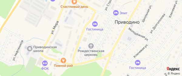 Лесная улица на карте поселка Приводино с номерами домов