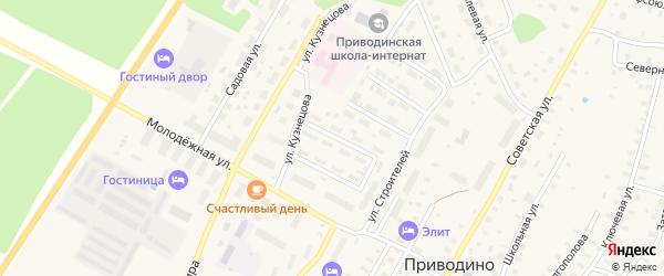 Улица Щелкунова на карте поселка Приводино с номерами домов