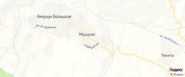 Карта села Мушули в Дагестане с улицами и номерами домов