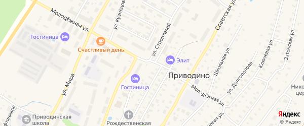 Молодежная улица на карте поселка Приводино с номерами домов