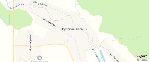 СТ Ромашка на карте села Русские Алгаши с номерами домов