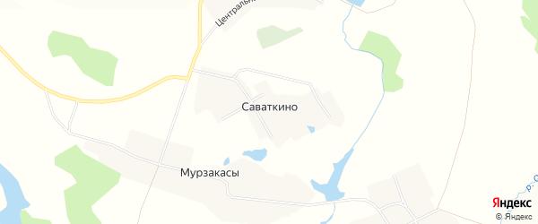 Карта деревни Саваткино в Чувашии с улицами и номерами домов