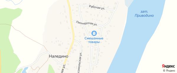 Комсомольская улица на карте поселка Приводино с номерами домов