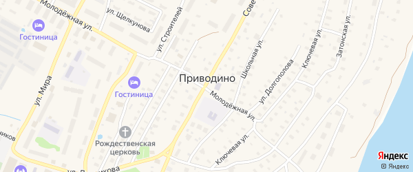 Улица Сплавщиков на карте поселка Приводино с номерами домов
