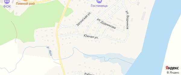Южная улица на карте поселка Приводино с номерами домов