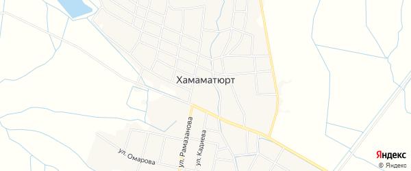 Карта села Хамамата-Юрт в Дагестане с улицами и номерами домов