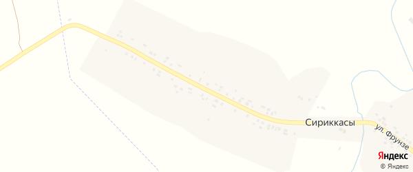 Улица Фрунзе на карте деревни Сириккас с номерами домов