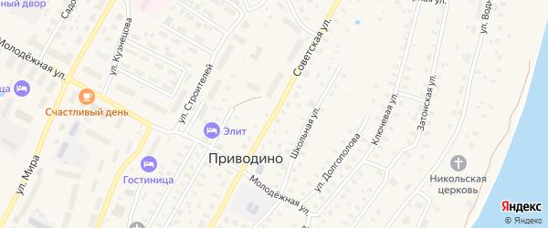 Советская улица на карте поселка Приводино с номерами домов