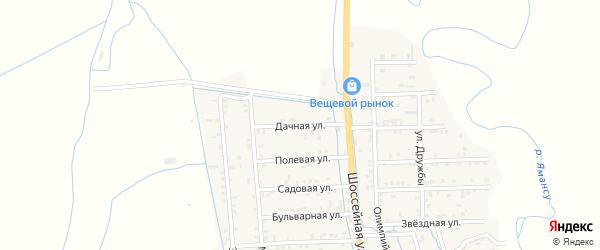 Дачная улица на карте села Боташюрта с номерами домов